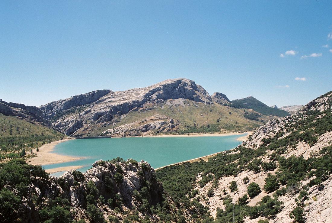 Gorg Blau reservoir in Mallorca