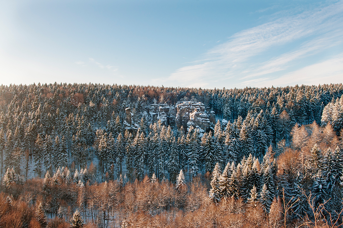 winter hike in Rosenthal-Bielatal