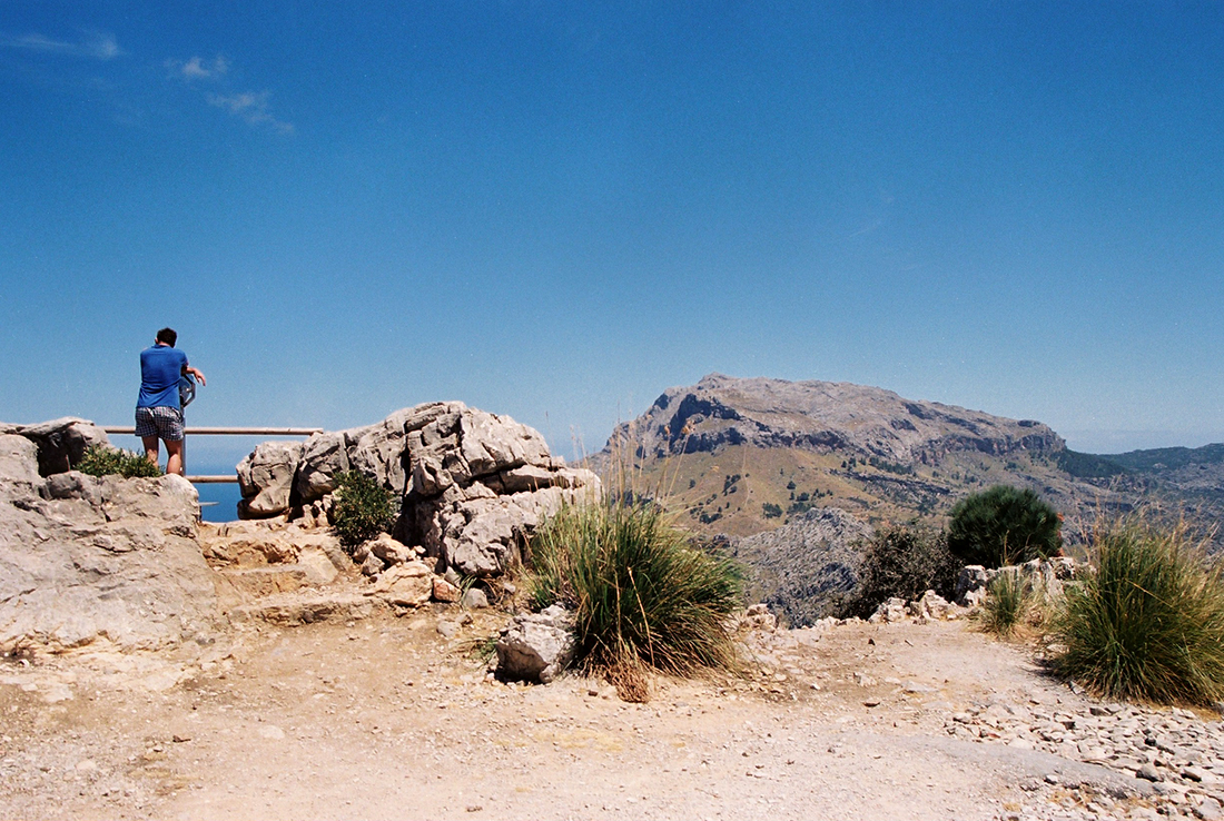 Serra de Tramuntana mountain range on the island of Mallorca