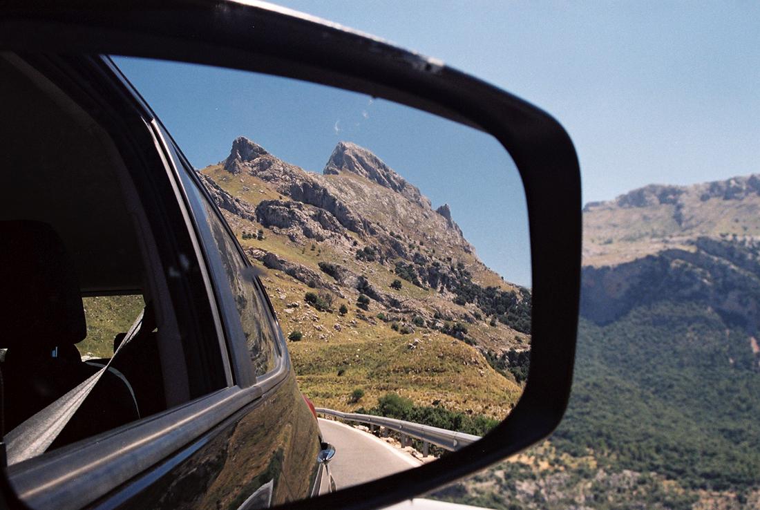Serra de Tramuntana mountain range on the island of Mallorca