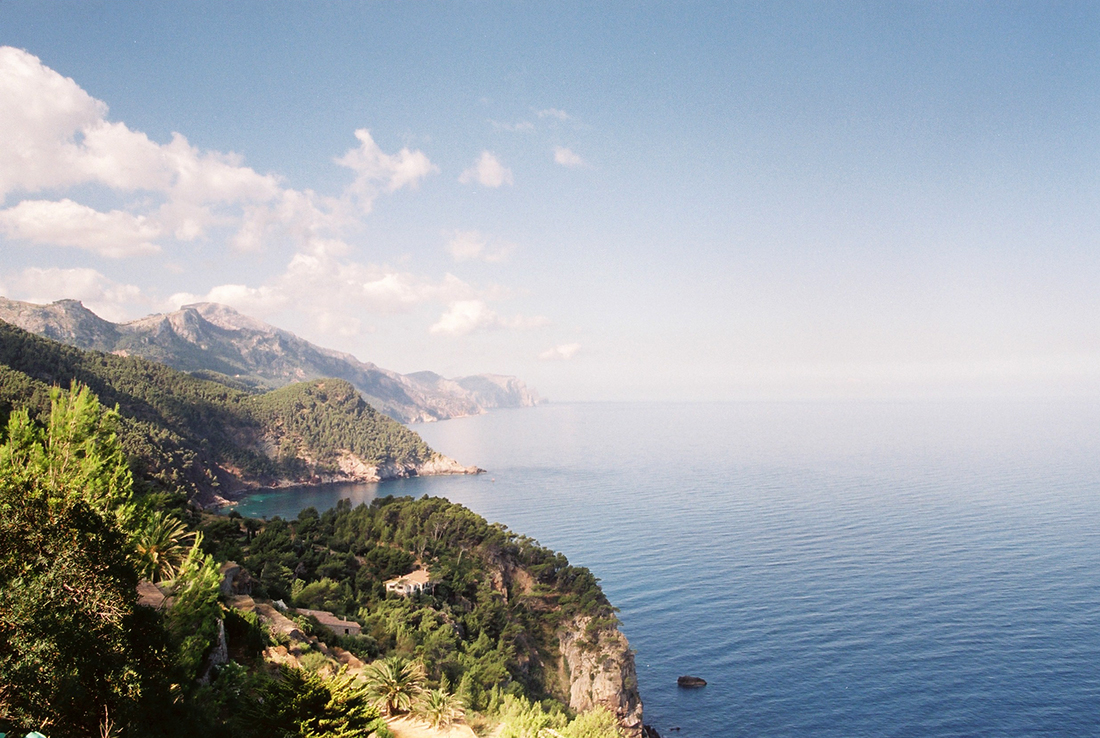 Serra de Tramuntana mountain range overlooking the Mediterranean Sea