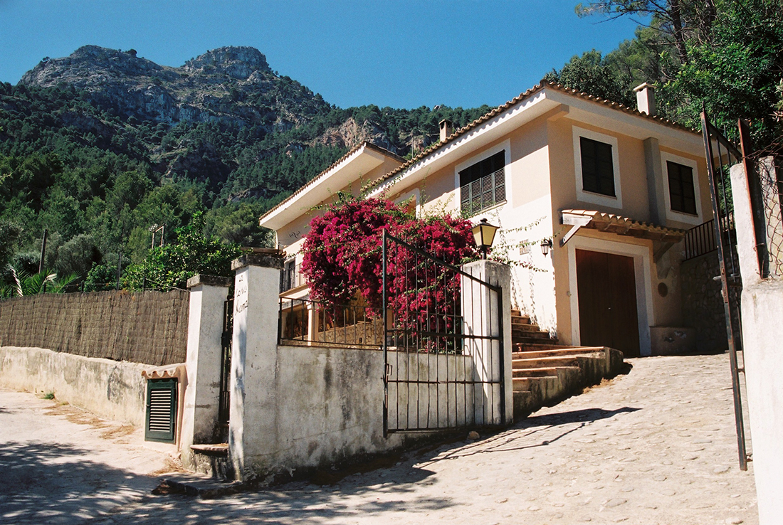 House in Estellencs in the Serra de Tramuntana mountain range on the island of Mallorca