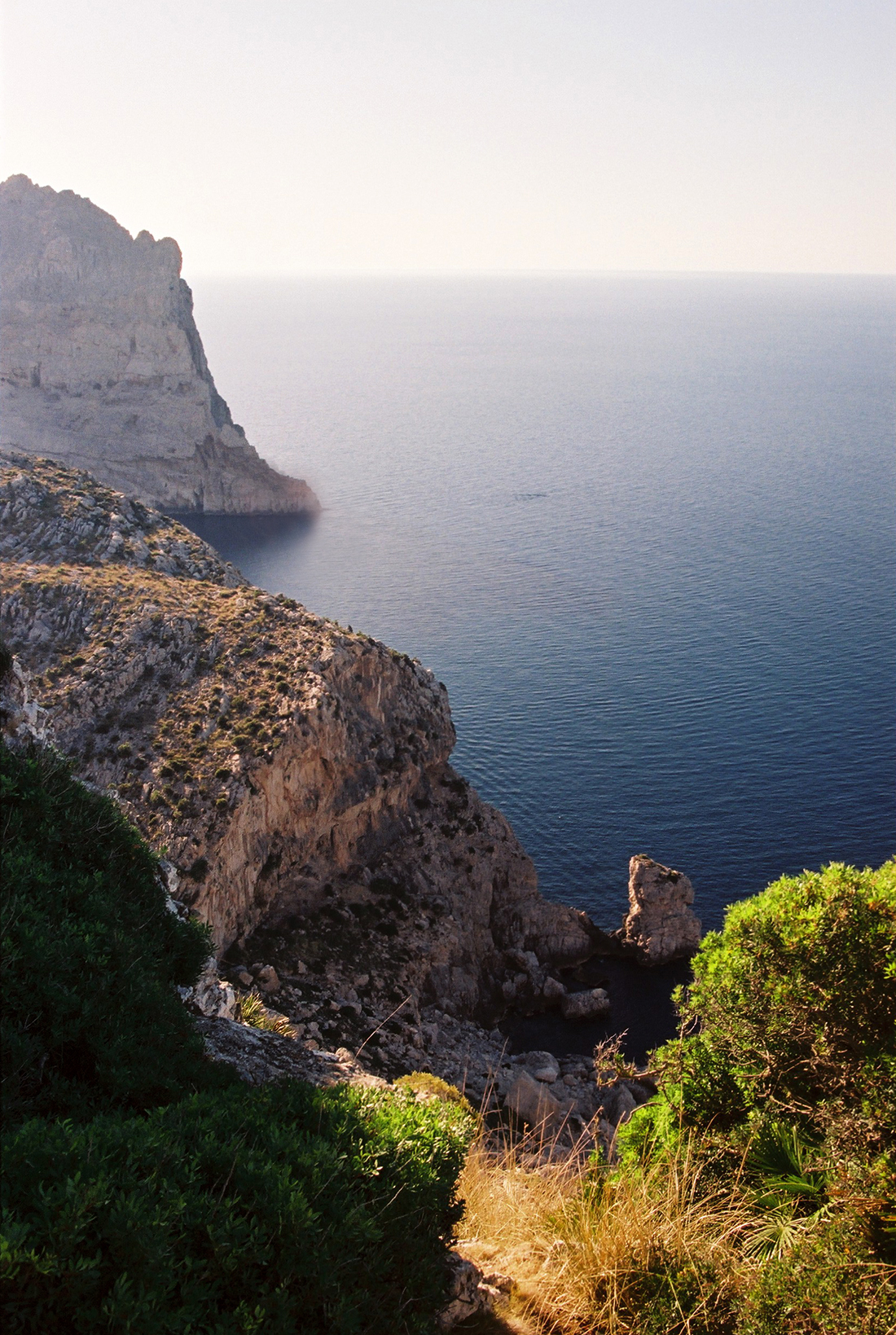 Formentor in the Serra de Tramuntana mountain range on the island of Mallorca overlooking the Mediterranean Sea