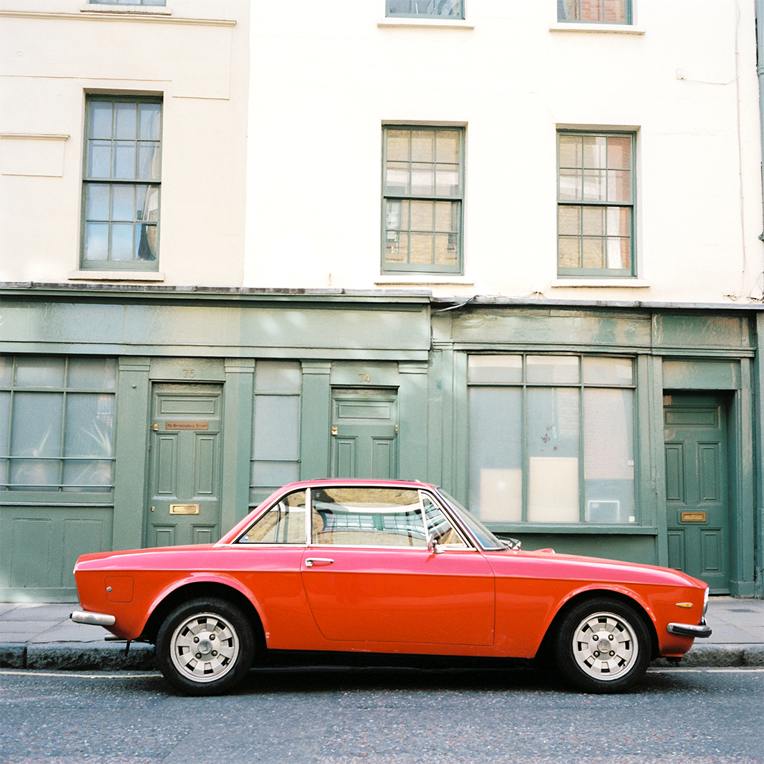 Red Car in London