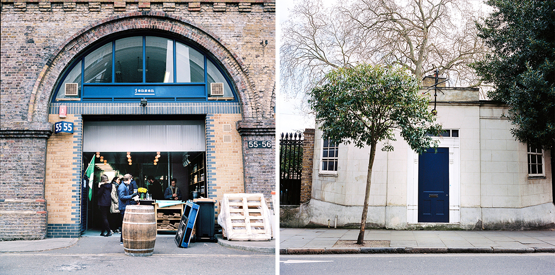 Gin Distillery and Blue Door