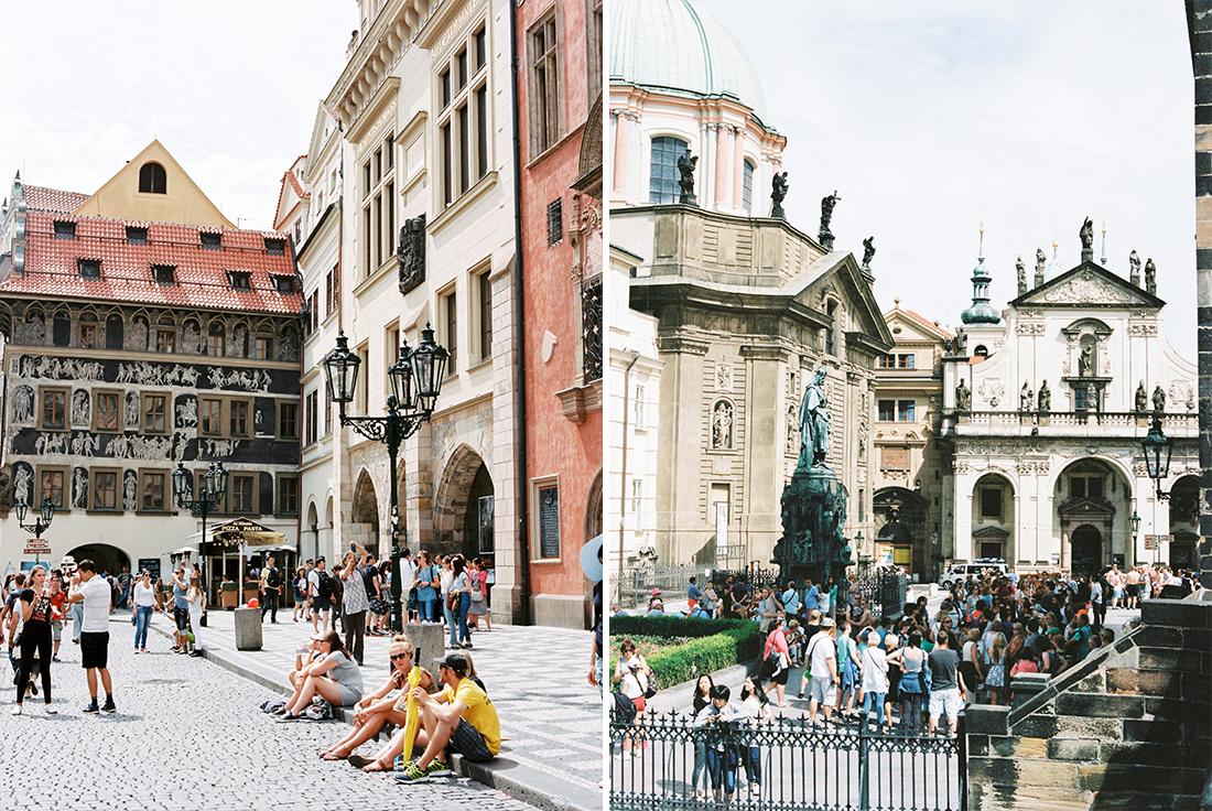 People watching in Prague
