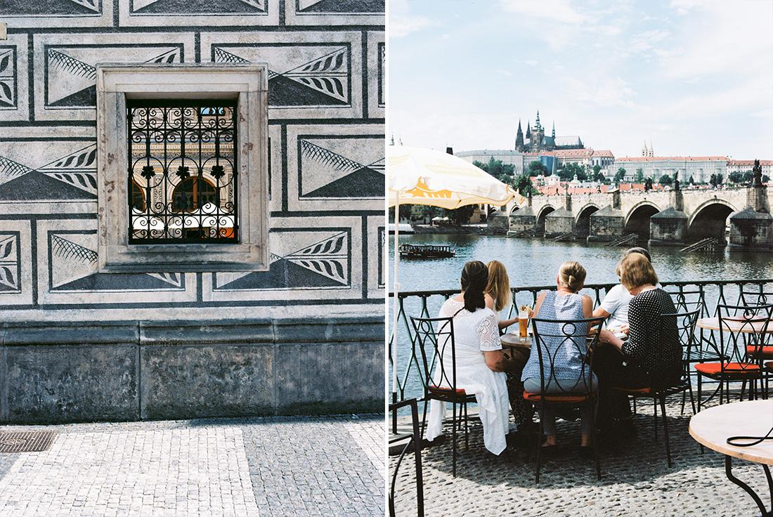 Watching people in Prague