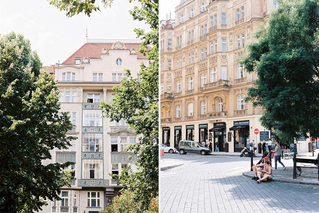 Art Noveau buildings in Prage