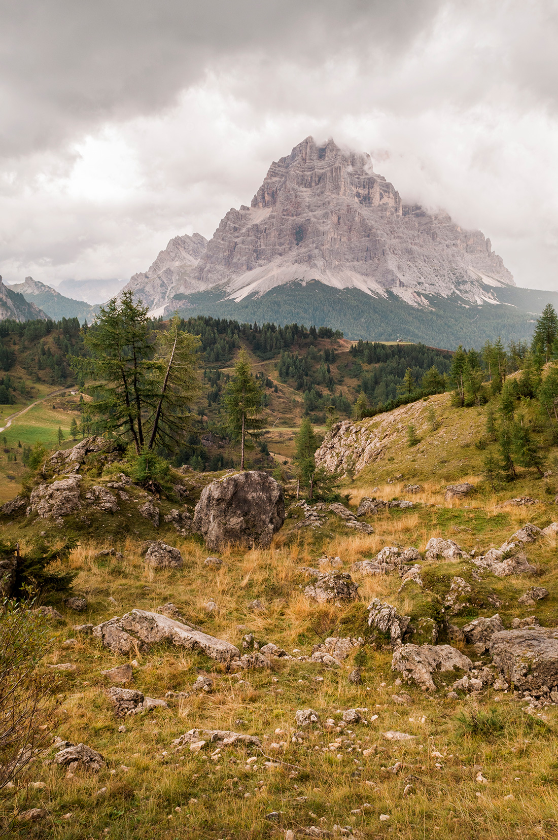 View on mountain in the Dolomites