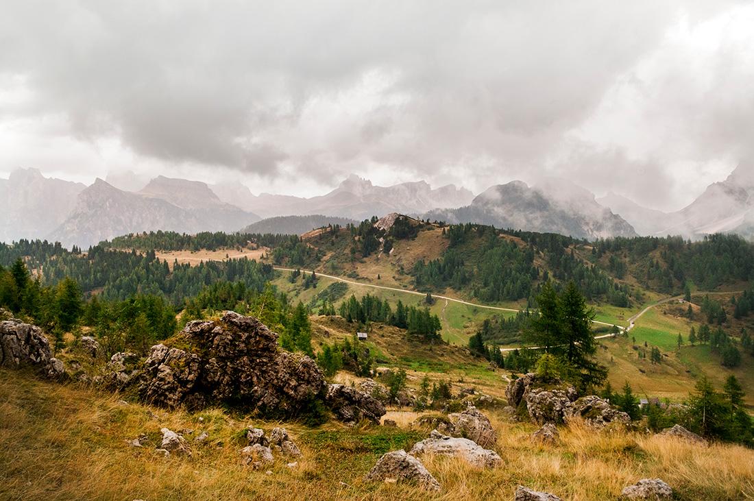 Mountain range in the Dolomites